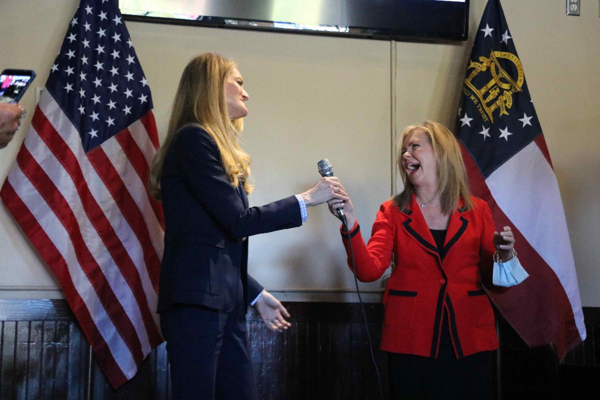 Photo Release: Kelly Loeffler Speaks at Faith & Freedom Policy Conference, Campaigns in Forsyth County with Senator Marsha Blackburn 7