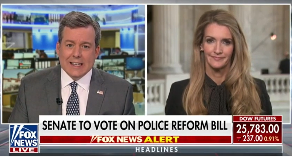 Kelly Loeffler backs law and order on Fox News