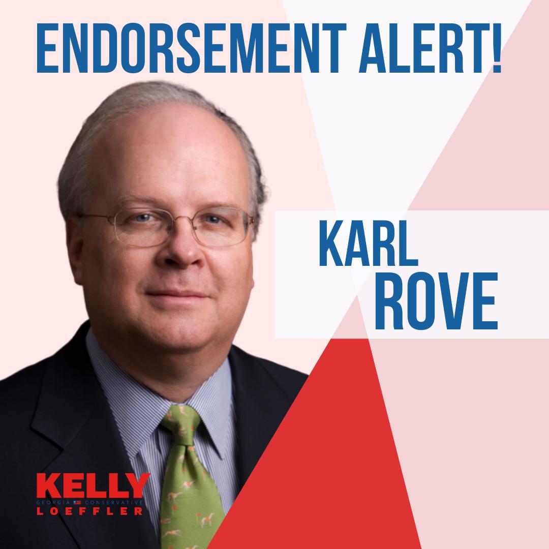 Karl Rove endorses Kelly Loeffler