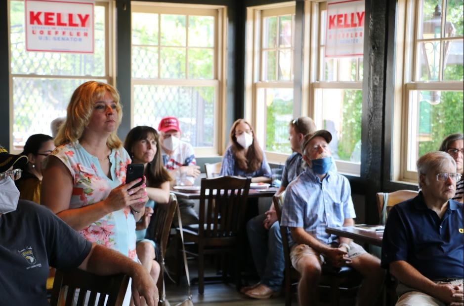 Kelly Loeffler at Cherokee County Meet and Greet in Woodstock, Georgia