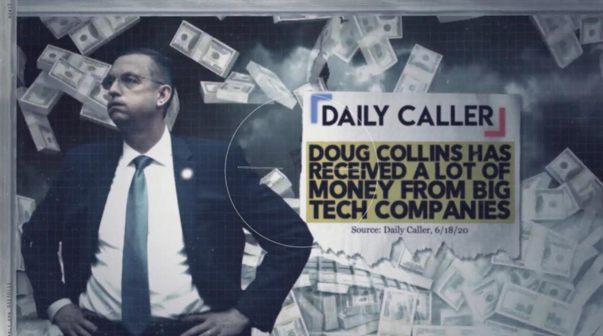 New Ad from Kelly Loeffler Slams Doug Collins for His Ties to Big Tech 1