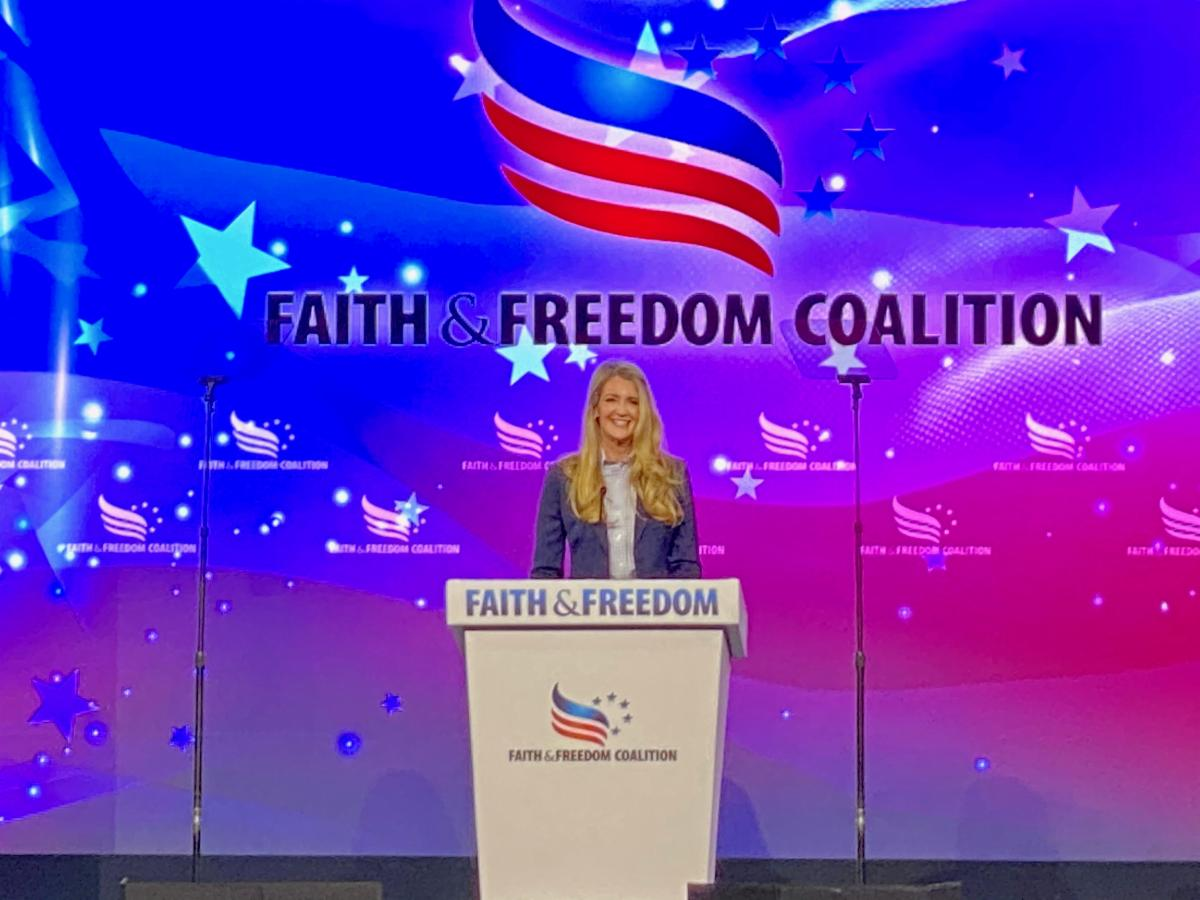 Photo Release: Kelly Loeffler Speaks at Faith & Freedom Policy Conference, Campaigns in Forsyth County with Senator Marsha Blackburn 1
