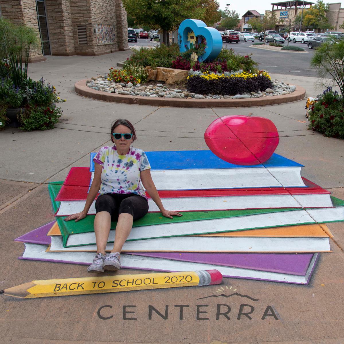 Artist Jennifer Chaparro at Centerra Marketplace