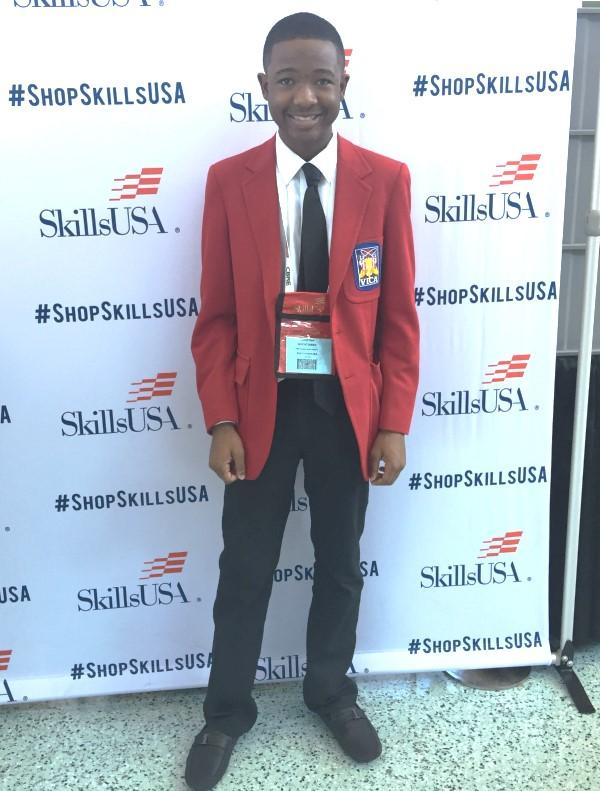 Trenton Hightower Pine Forest High School SkillsUSA winner