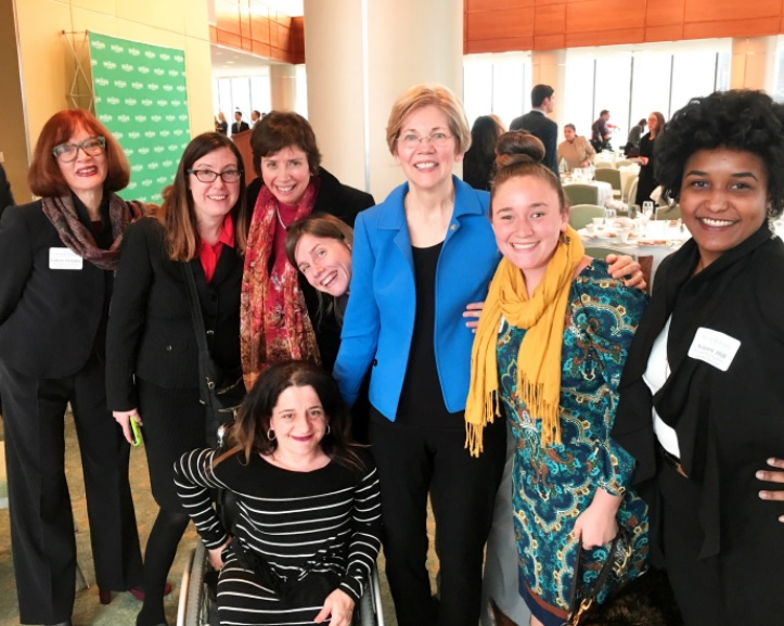 US Senator Elizabeth Warren with New England ADA Center Staff