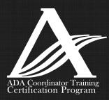 ADA Coordinator Training Certification Program