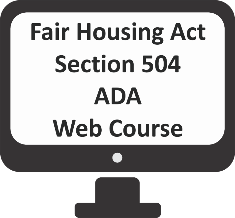 Fair Housing Act Section 504 and ADA Web Course Logo