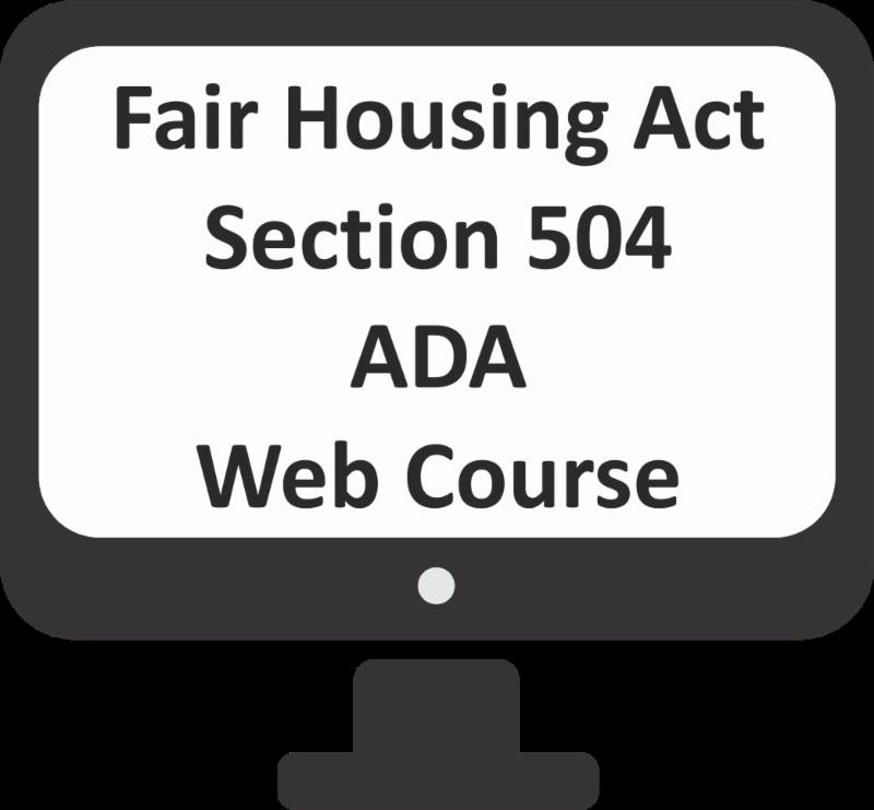 Fair Housing Act Section 504 and ADA Web Course Logo