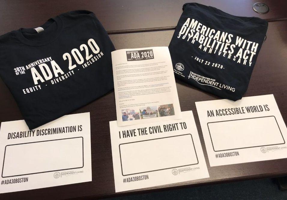 Boston ADA2020 30th Anniversary T-shirts