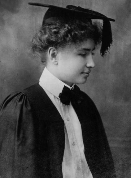 Helen Keller at Radcliffe College