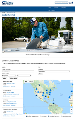 SeaDek Marine Products Certified Fabricator and Installer locator map