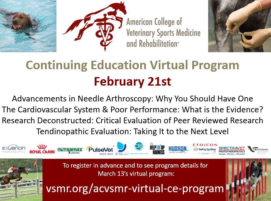 ACVSMR CE Virtual Program - Feb. 21