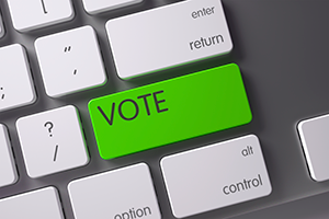 Vote button on computer keyboard