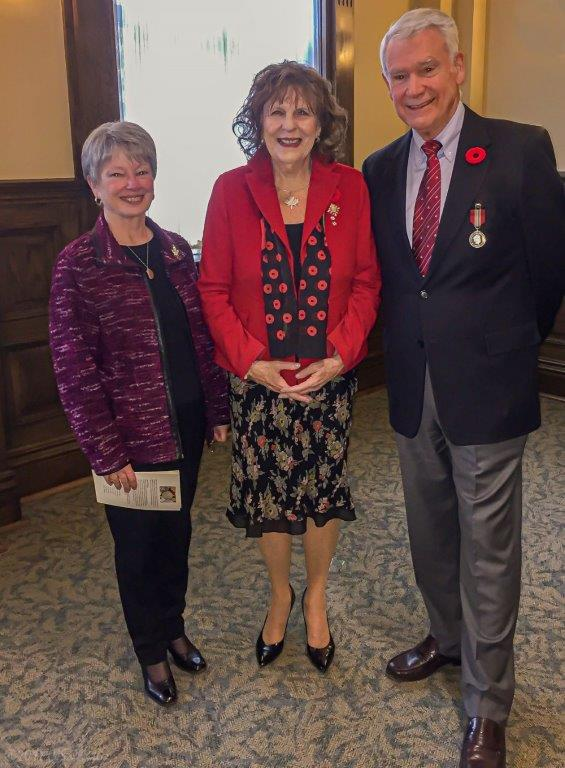 Colin and Marilyn Cantlie with Her Honour The Hon. Lois E. Mitchell Lieutenant Governor of Alberta
