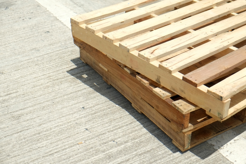 Two old pallets on the floor