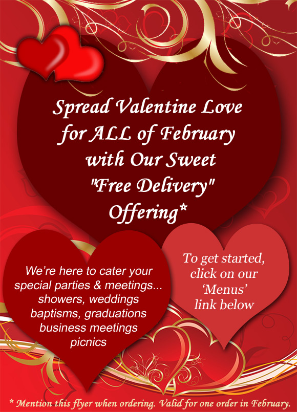 Somethings Cooking Catering Valentine Free Offer