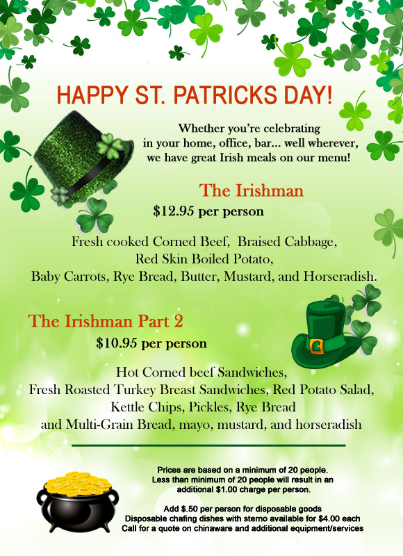 Pick A Menu For Your St Patricks Day Party
