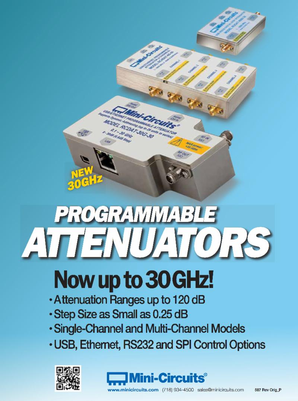 NEW - Mini-Circuits - Programmable Attenuators
