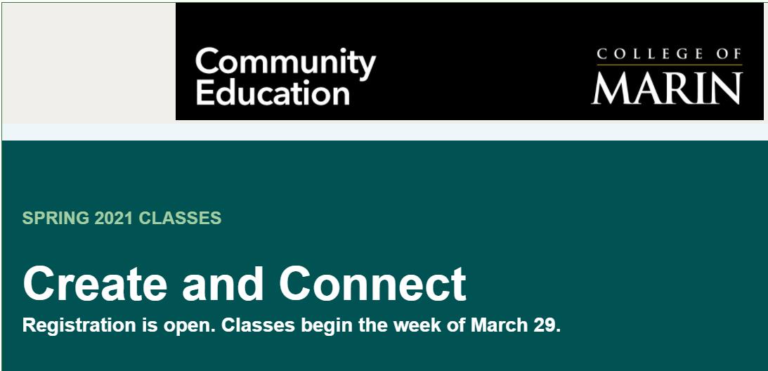 Spring Class Registration OPEN
