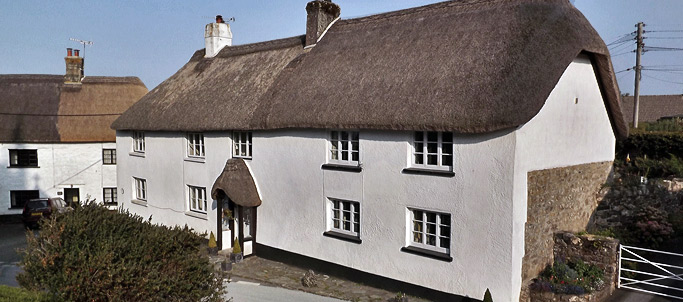 Beautiful thatched cottage in South Tawton_ Devon_ England