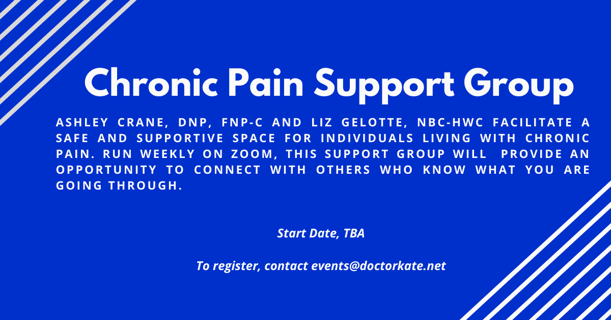 NEW Chronic Pain Support Group.  Starting date TBA.  Let us know if you are interested.