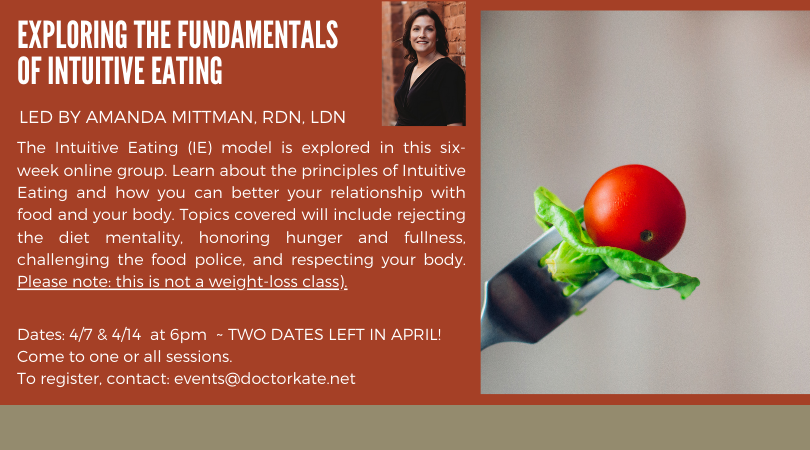 Only Two dates left in April for IE Series! April 7 and April 14 at 6pm