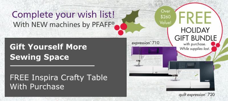 Pfaff Expression Crafty Table Offer