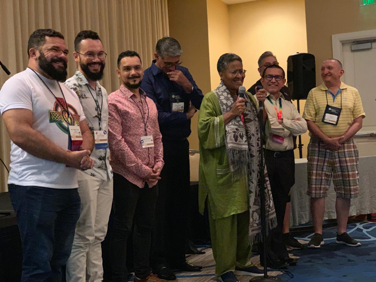 Rev. Elder Margarita Sanchez De Leon and others from Iberoamerica speak at General Conference 2019.