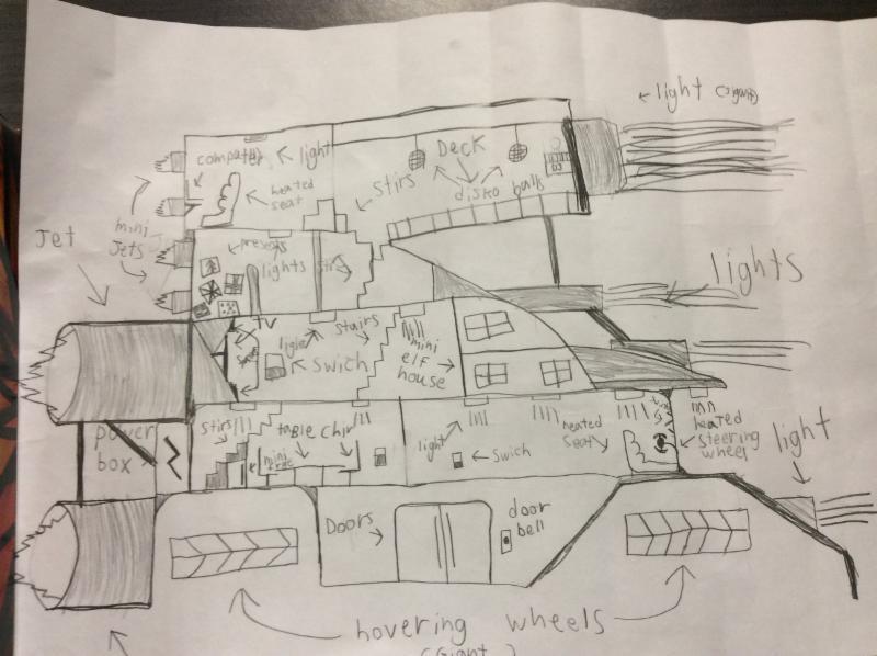 Student's design for Santa's sleigh