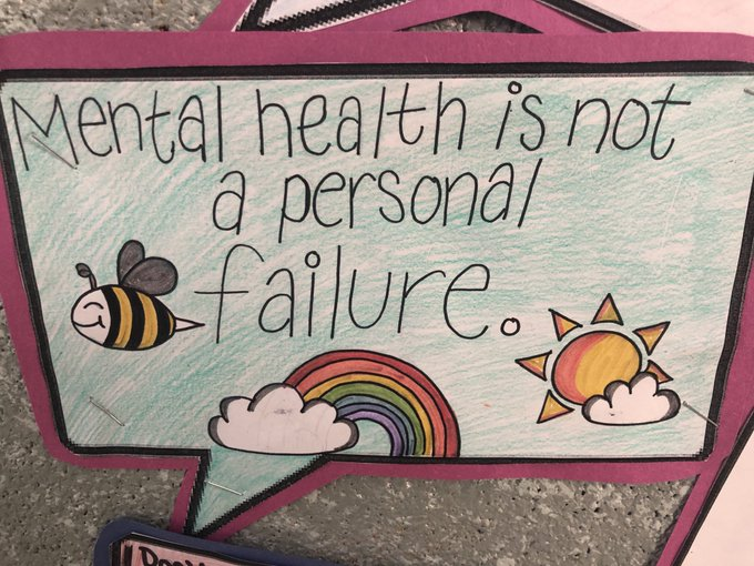 Speech bubble saying Mental Health is not a personal failure
