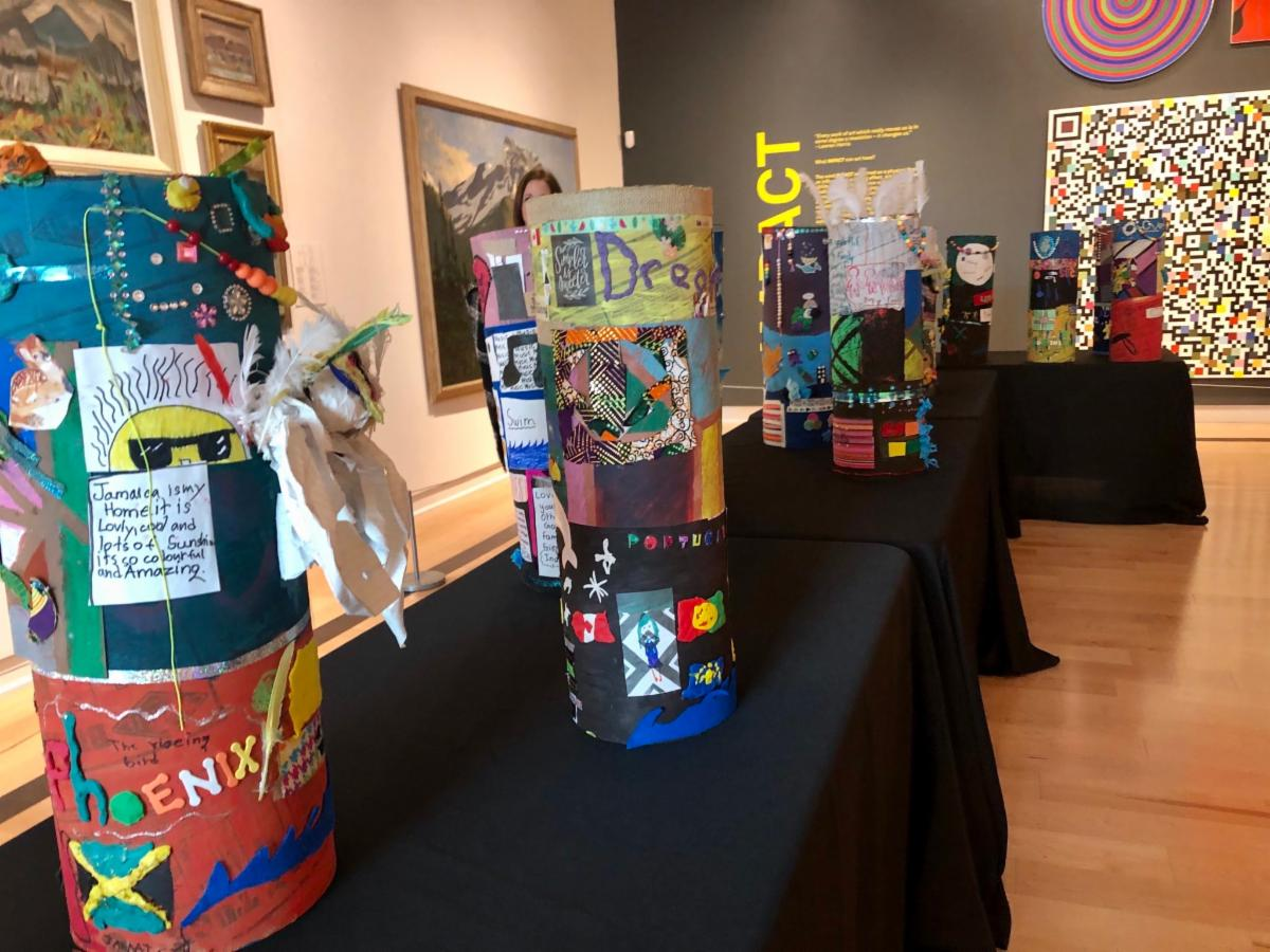 Students artwork on display at the Art Gallery
