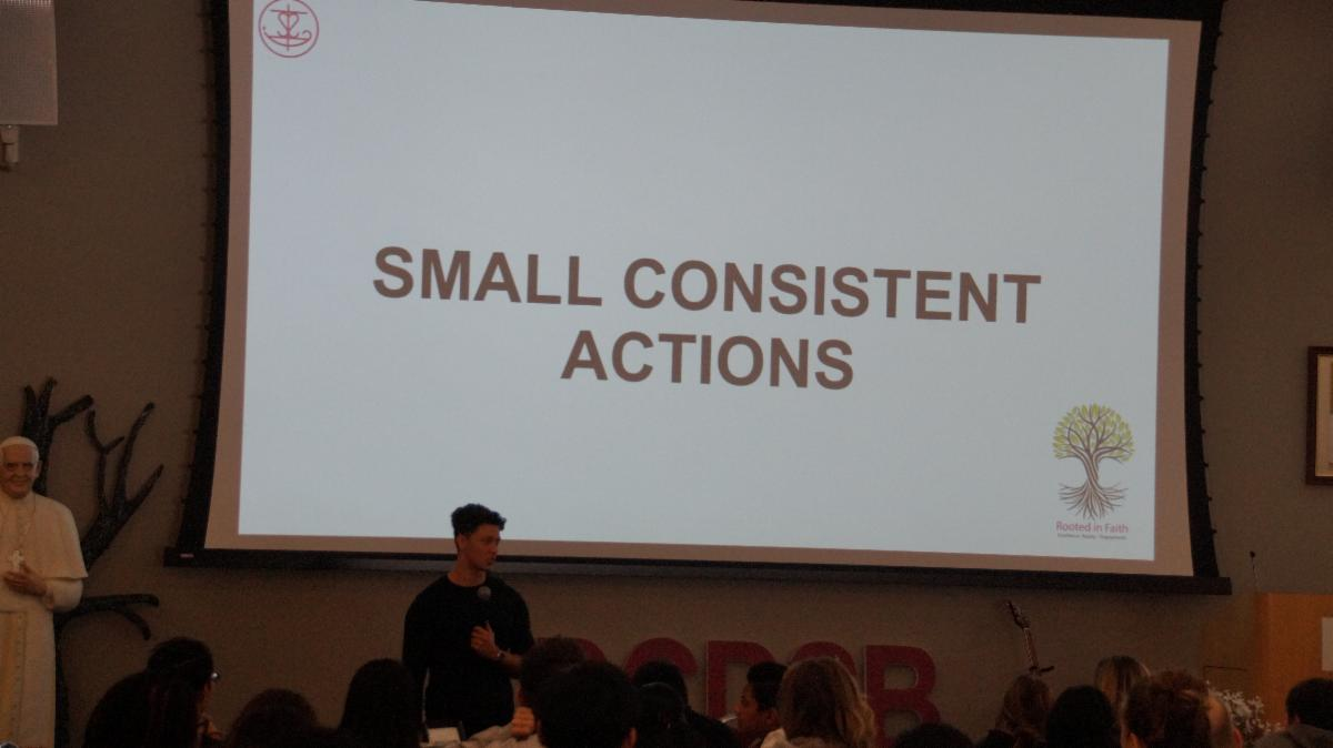 A slide that says Small Consistent Actions