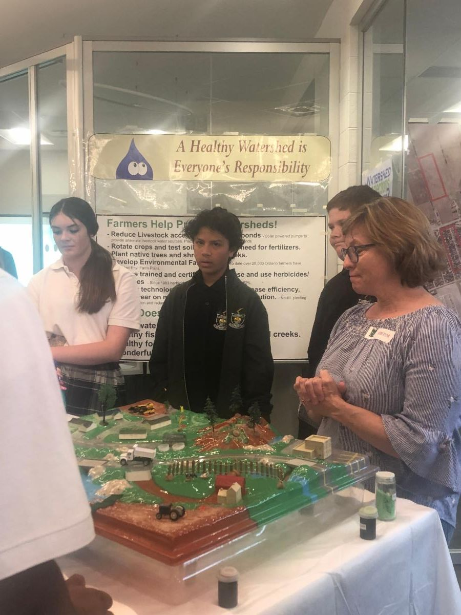 Student learn how the watershed works and how fertilizer ends up in our water sources