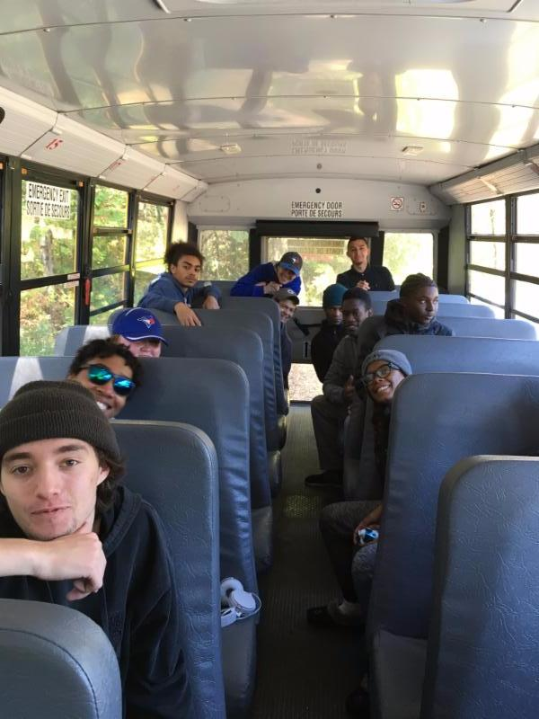Students on a bus