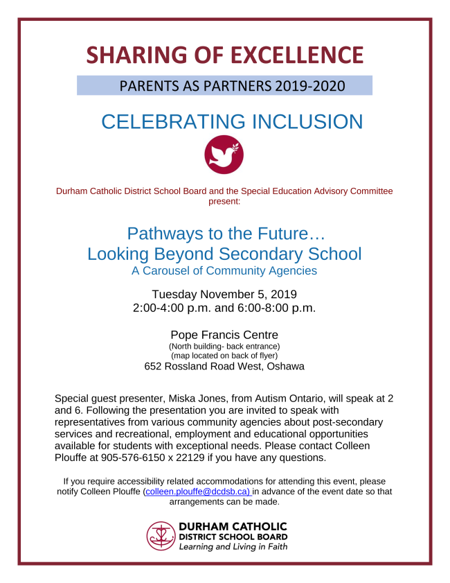 Flyer promoting the Pathways to the Future event on November 5, 2019