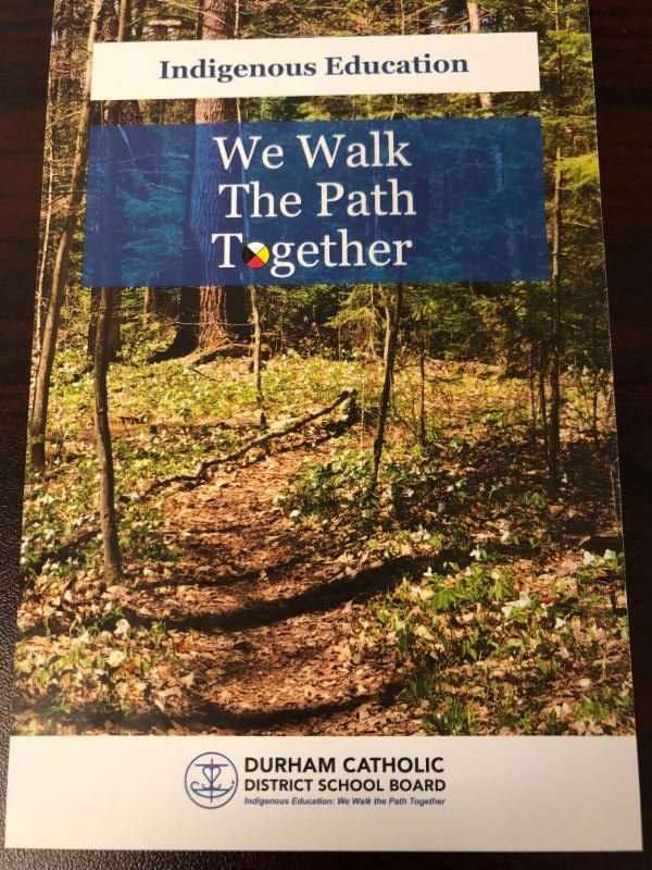 Indigenous Education We walk the path together. Path in the forest with broken tree