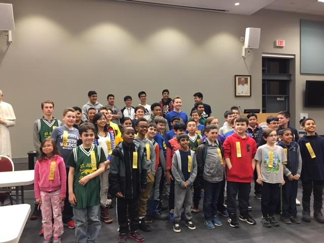 Male and female students who participated in the Chess Tournament
