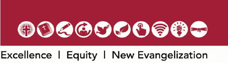 Excellence_ Equity and New Evangelization logo
