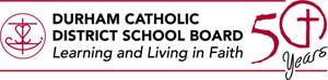 50th anniversary logo for the Durham Catholic District School Board