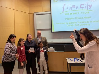 The People Choice award winners from St. Bridget Catholic School