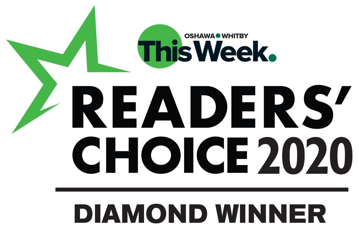 Diamond Winner for the Oshawa Whitby Readers' Choice Awards