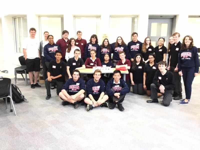 Male and female students and teachers who make up the two Math Councils in the Durham Catholic District School Board