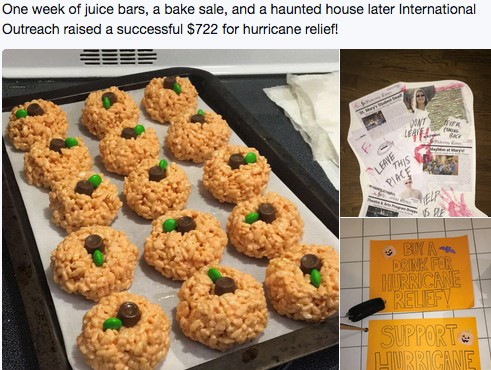 Baked goods for the hurricane relief fund fundraiser
