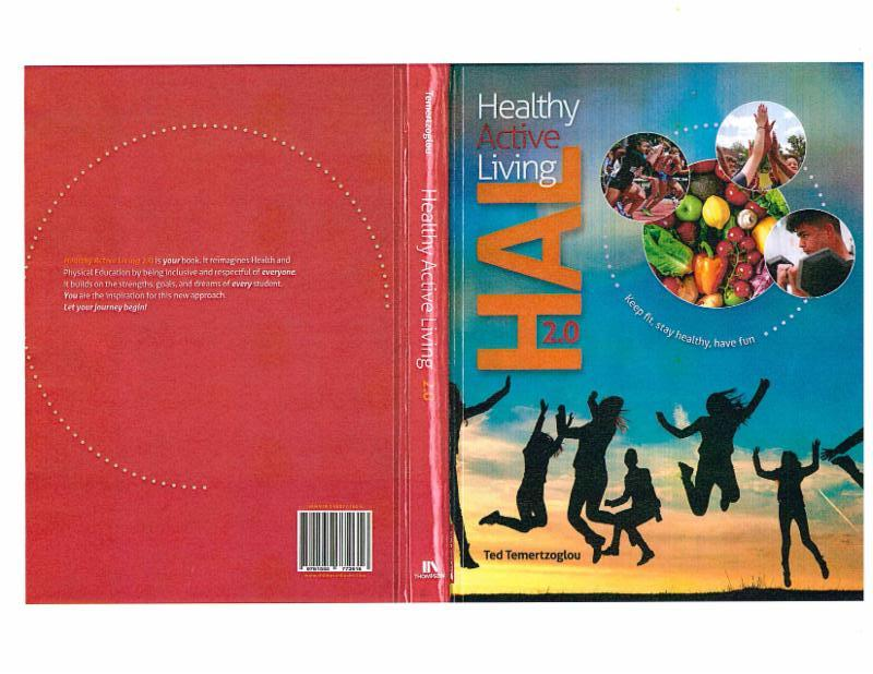 Cover of Healthy Active Living Text book featuring pictures of students from Monsignor John Pereyma Catholic Secondary School