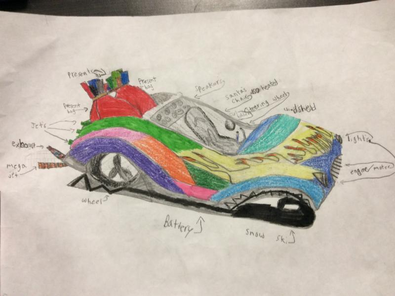 Student design for Santa's sleigh