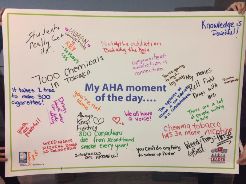 Quotes from students on their AHA Moment of the Day