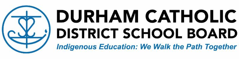 Durham Catholic District School Board Indigenous Education: We Walk the Path Together logo