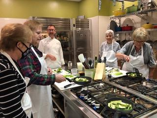 Photo of participants in cooking class.