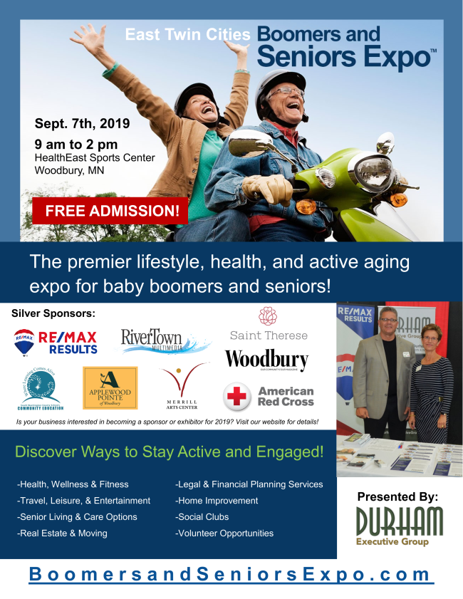 Boomers and Seniors Expo flyer.