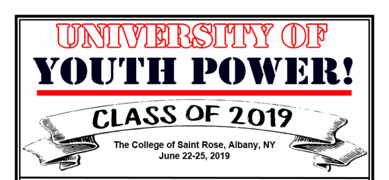 University of YOUTH POWER_ class of 2019_ The college of Saint Rose_ Albany_ NY June 22-25_ 2019.